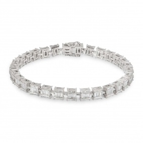 White Gold Diamond Bracelet 4.22ct